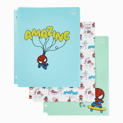 3pk Plastic Folders 2 Pocket Retro Spider-Man - Yoobi™
