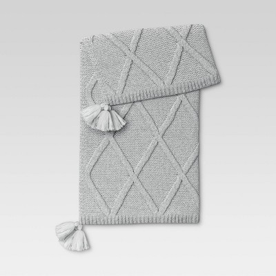 Chunky Diamond Knit Throw Blanket - Threshold™