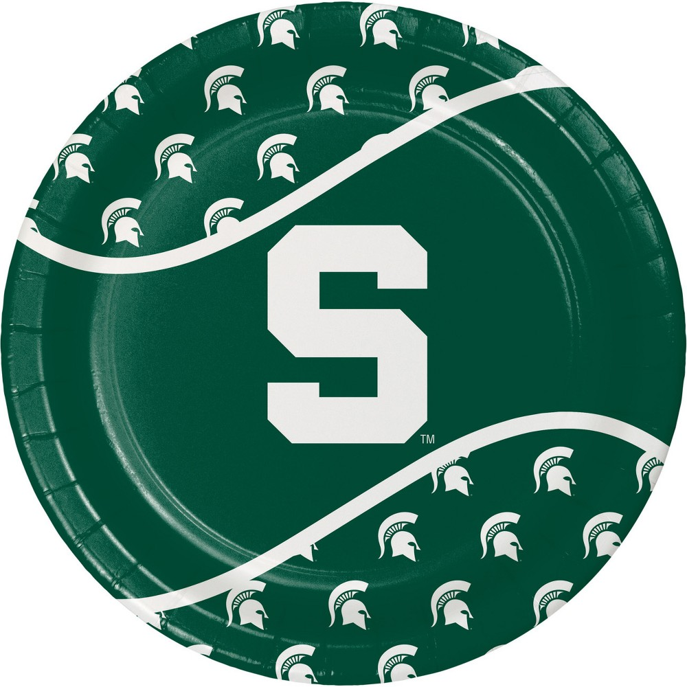Image of 24ct Michigan State Spartans Paper Plates Green