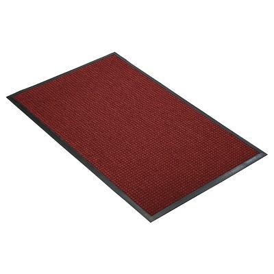 Red/Black Solid Doormat - (4'X6') - HomeTrax
