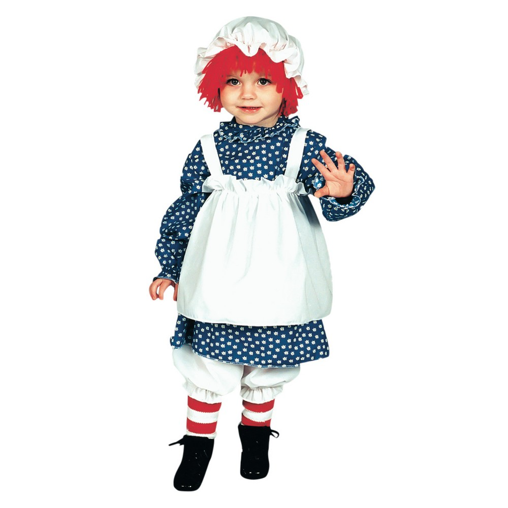 Image of Halloween Girls' Raggedy Ann Toddler Costume 1 To 2, Girl's, MultiColored
