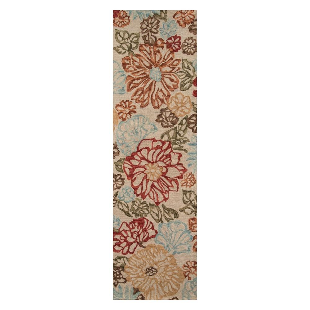 2'3X8' Floral Tufted Runner Beige - Momeni