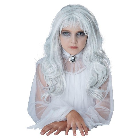 Girls' Ghost Costume Wig White - image 1 of 1