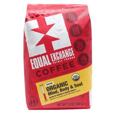 Equal Exchange Organic Mind, Body, & Soul Medium Roast Ground Coffee - 12oz
