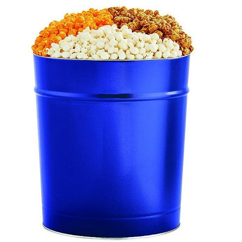 The Popcorn Factory Popcorn Gift Tin, Simply Blue, 3.5 Gallons (Robust Cheddar, White Cheddar, Caramel) - image 1 of 4