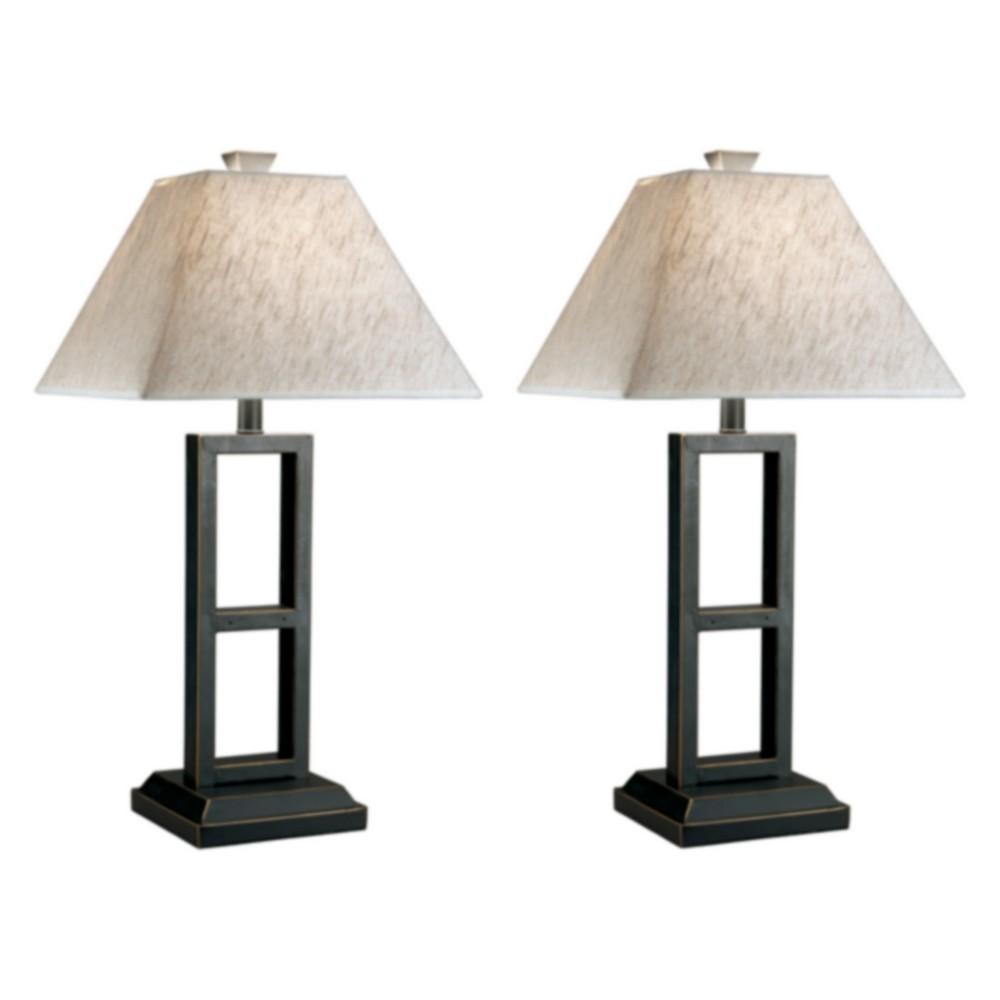 Deidra Metal Set Of 2 Table Lamp Black Lamp Only Signature