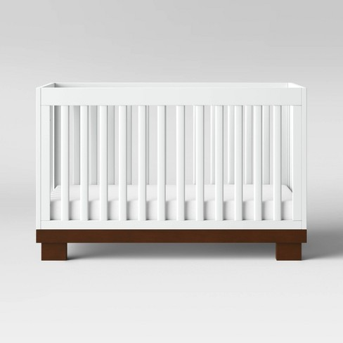 Babyletto Modo 3-in-1 Convertible Crib with Toddler Rail - White/Espresso - image 1 of 4