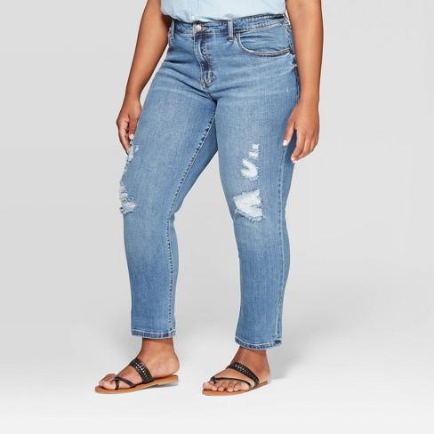 54a6fa77d Women's Plus Size Cropped Girlfriend Jeans - Universal Thread ...