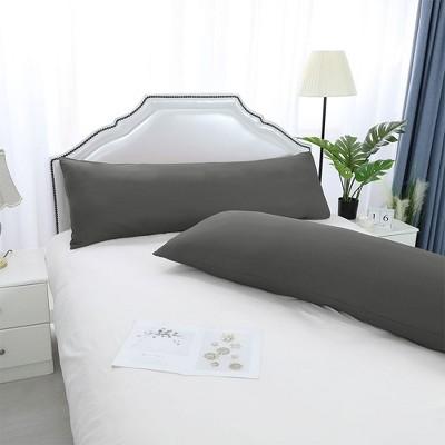 "2 Pcs 20""x48"" 1800 Microfiber Envelope Pillow Cases Grey - PiccoCasa"