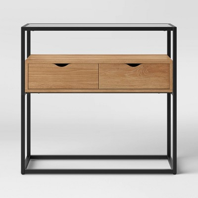 Ada 2 Drawer Console with Glass Top - Project 62™