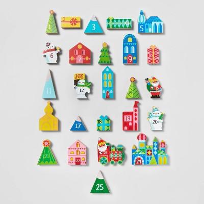 25pc Countdown Holiday Block Set Advent Calendar Multicolored - Wondershop™