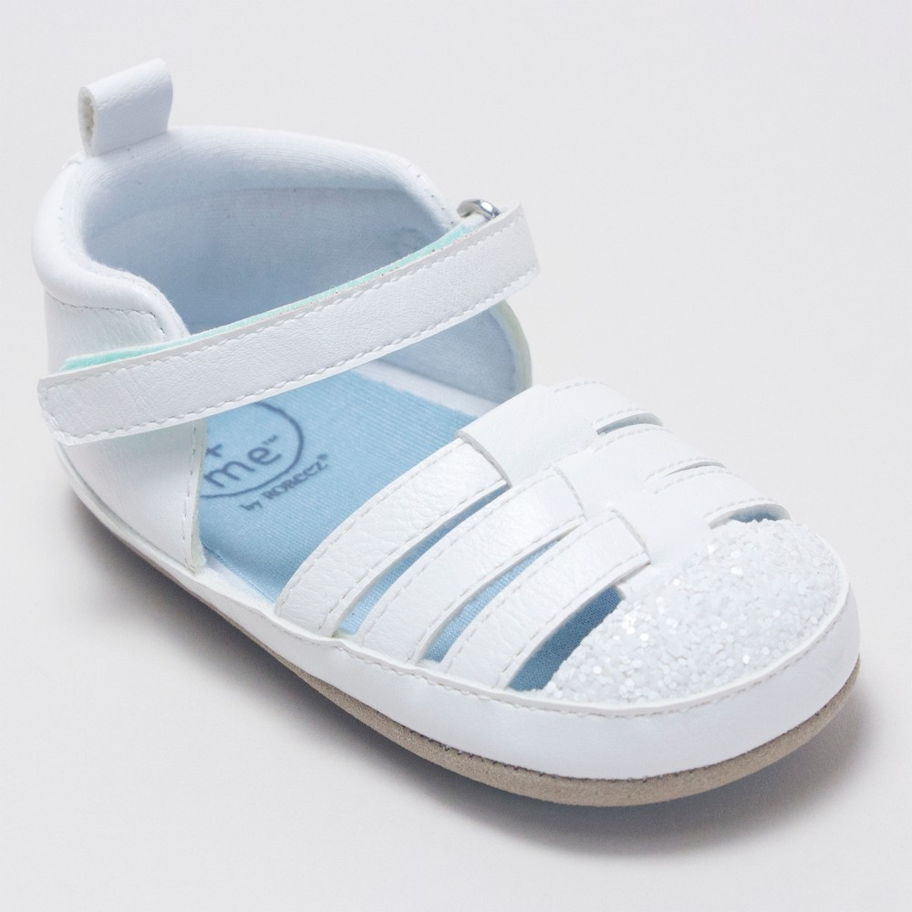 Baby Girls' Ro+Me by Robeez Taylor Sandals - White 6-12M