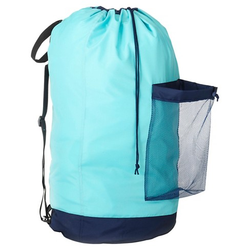 Backpack Laundry Bag - Turquoise - Room Essentials™ - image 1 of 2