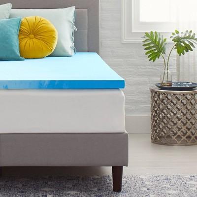 "2"" Gel Infused Memory Foam Mattress Topper - Comfort Revolution"