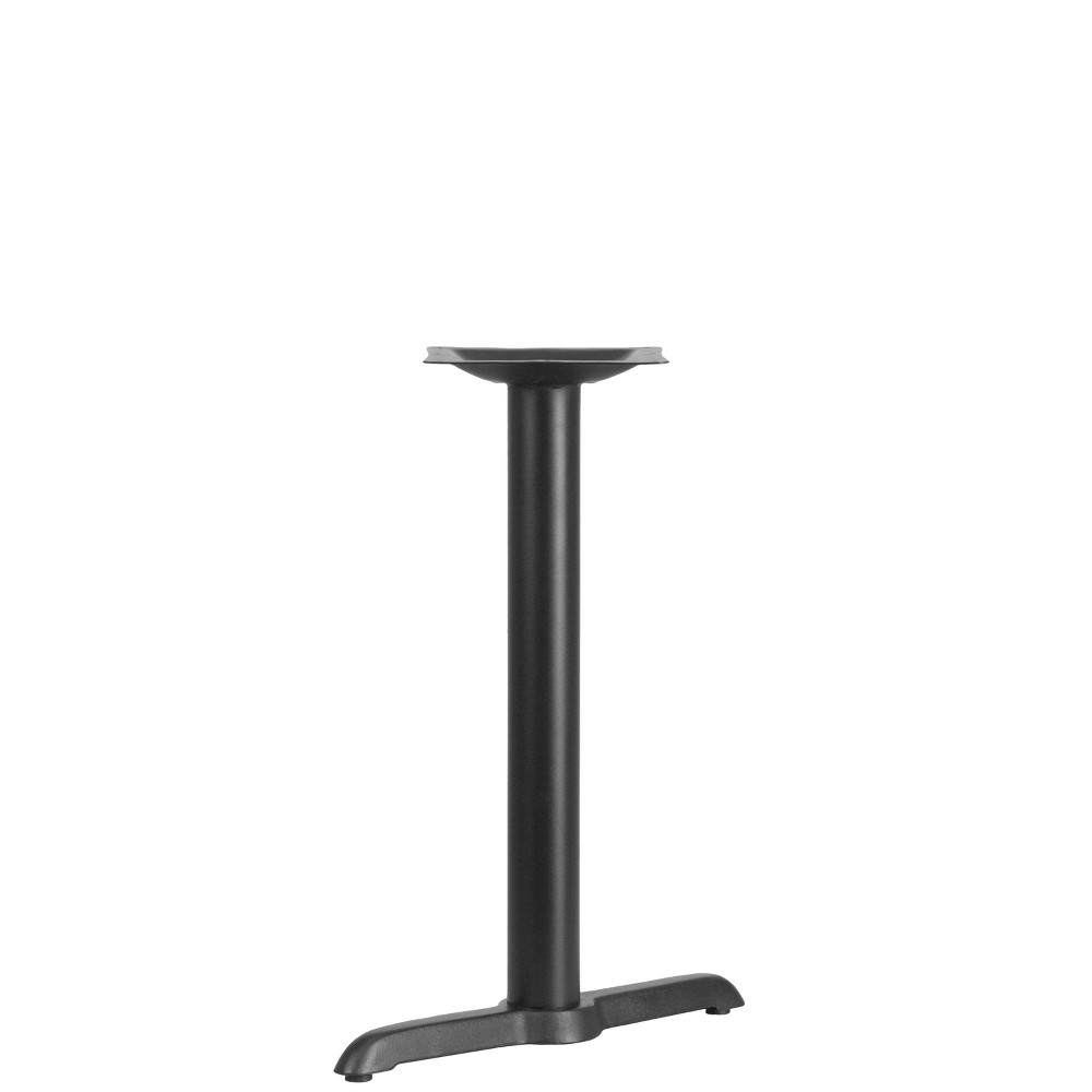 Image of Table Height T Base Black - Riverstone Furniture Collection