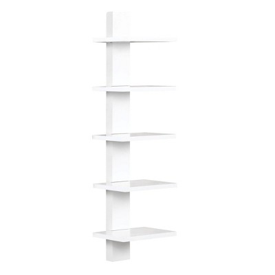 Spine Wall Book Shelves Stylish and Functional White - Proman Products