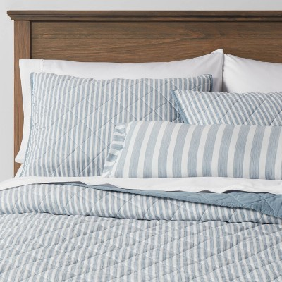 Connelly Stripe Quilt Set Blue - Threshold™