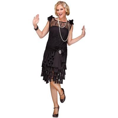 Fun World Flirty Flapper Adult Costume (Black)