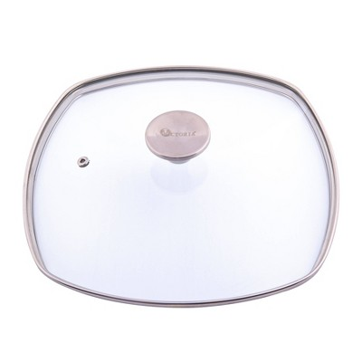 "Victoria Glass Lid with Stainless Steel Knob for 10"" Grill Pan"
