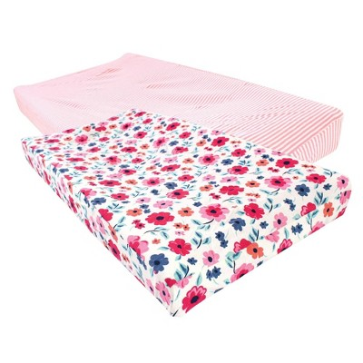 Touched by Nature Unisex Baby Organic Cotton Changing Pad Cover - Garden Floral One Size