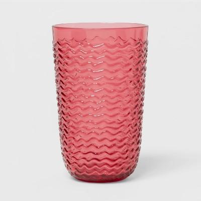19oz Plastic Wave Texture Tall Tumbler Pink - Opalhouse™