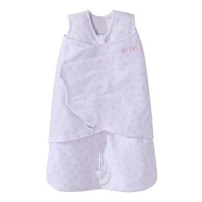HALO Innovations Sleepsack Micro-Fleece Swaddle - Hearts S