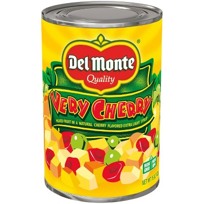 Del Monte Very Cherry Mixed Fruit in a Natural Cherry Flavored Light Syrup - 15oz