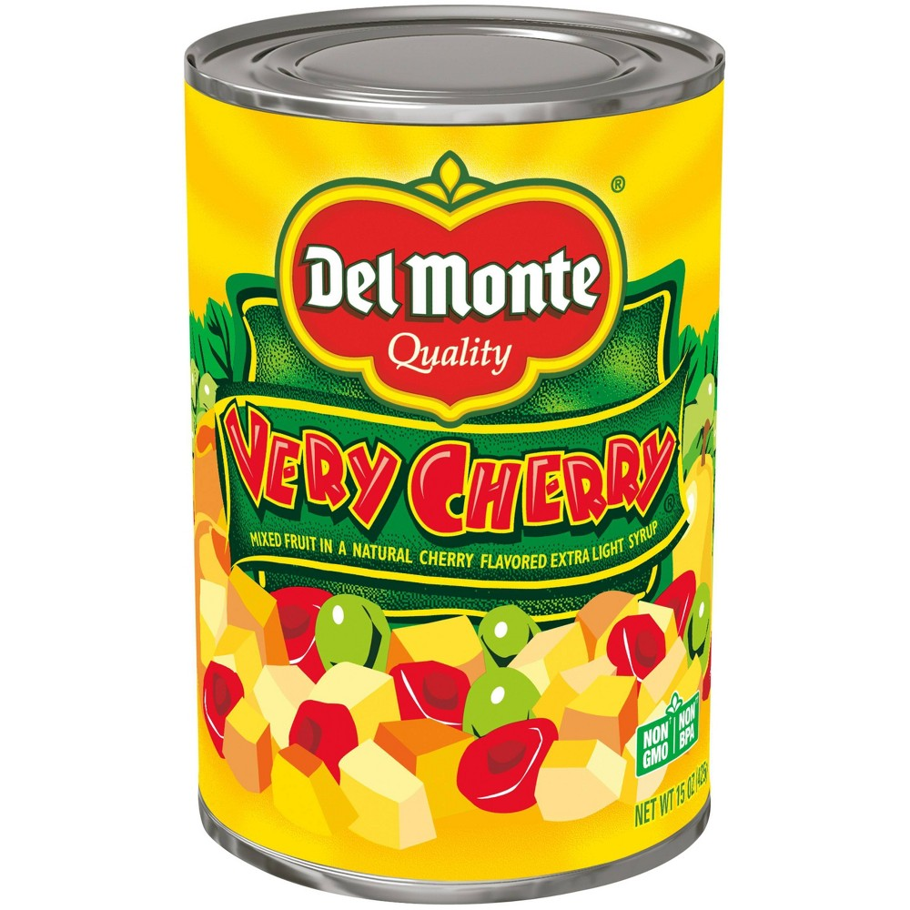 Del Monte Very Cherry Mixed Fruit In A Natural Cherry Flavored Light Syrup 15oz