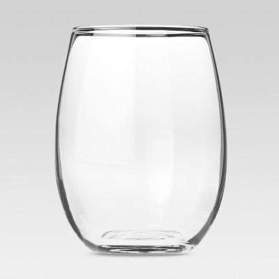 Modern Stemless White Wine Glasses 17oz Set Of 4