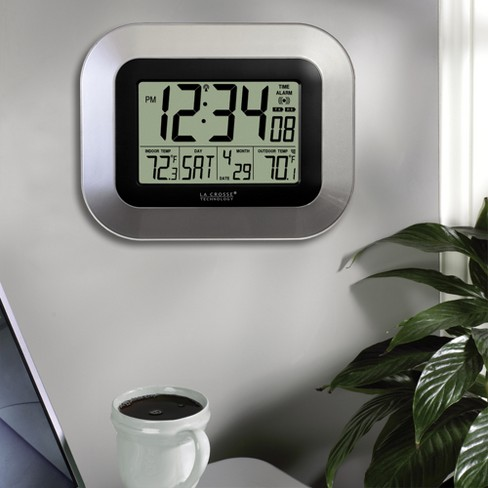 La Crosse Technology Atomic Digital Wall Temperature Clock
