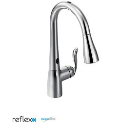 Moen 7594E Arbor Single Handle Touchless Pulldown Spray Kitchen Faucet