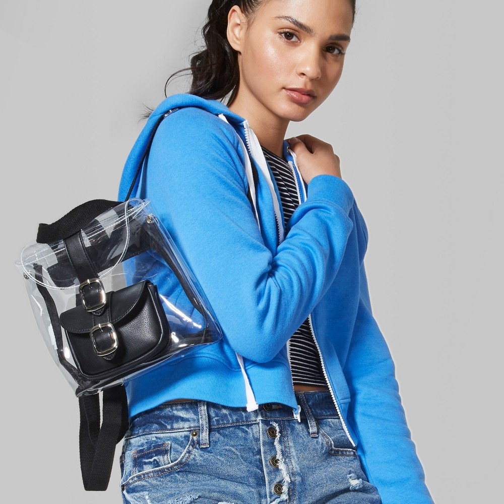 Women's Cropped Zip-Up Hoodie - Wild Fable Blue S