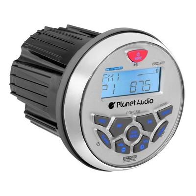 Planet Audio PGR35B 3.5 Inch Weatherproof Bluetooth Mech-Less Multimedia Marine WMA MP3 FM/AM Radio Boat Stereo USB/AUX Receiver w/ Subwoofer Control