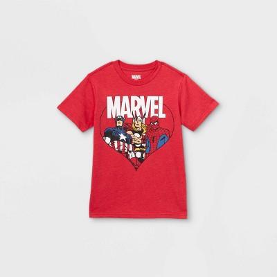 Boys' Marvel Avengers Short Sleeve Graphic T-Shirt - Red