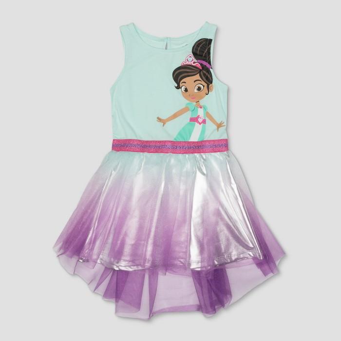 Toddler Girls' Nella the Princess Knight Dress - Mint Heather - image 1 of 2