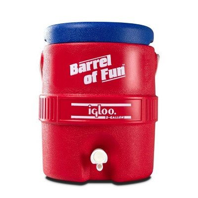 Igloo Barrel of Fun Retro Portable 2 Gallon Beverage Servers - Lobster Red