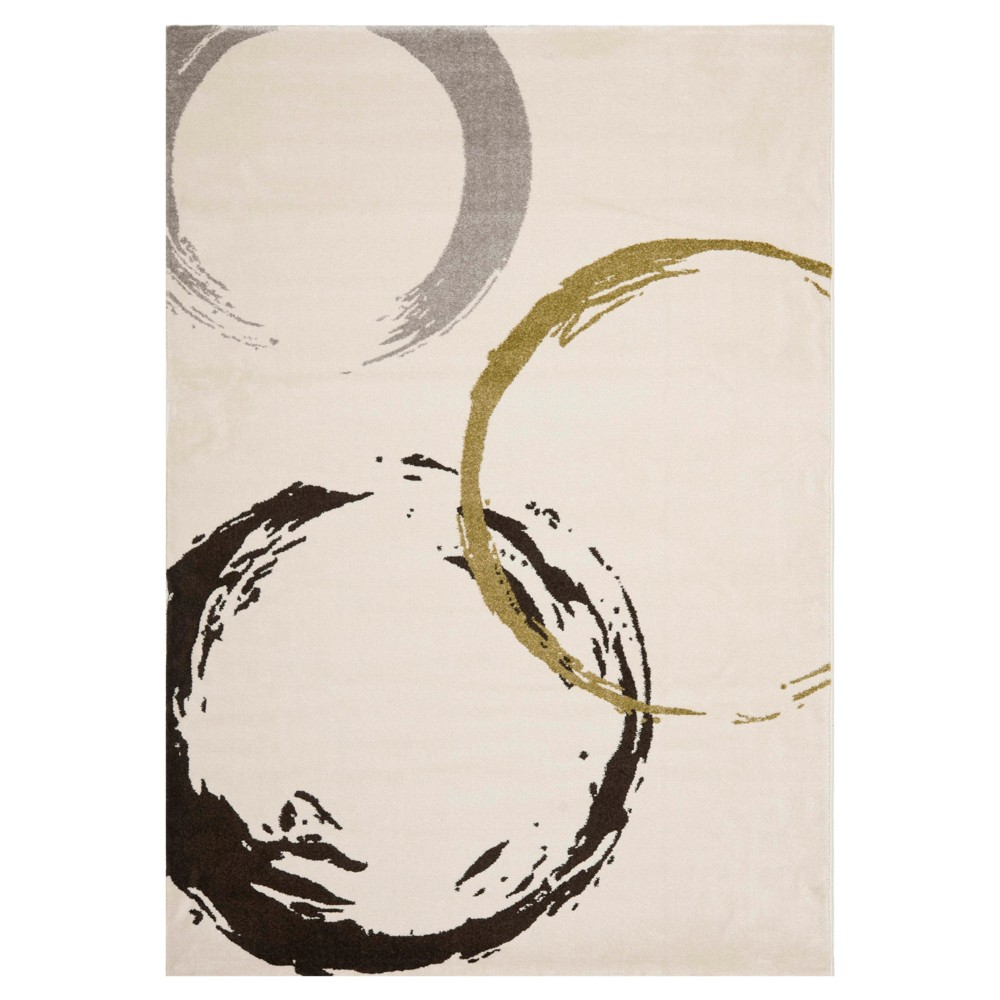 Gala Area Rug - Ivory / Green ( 4' X 5' 7 ) - Safavieh, White