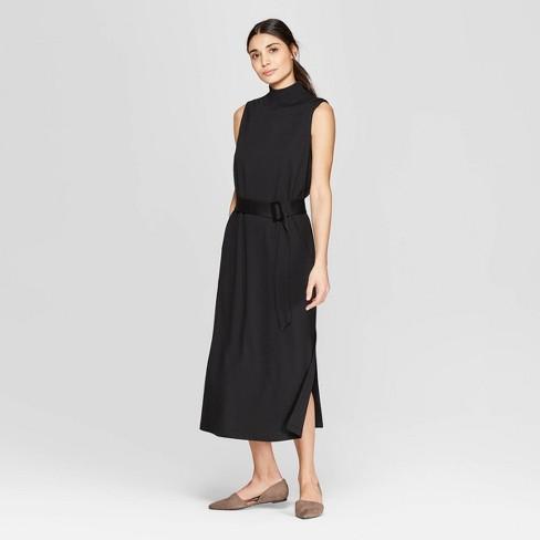 a76fdb8c9a132 Women s Sleeveless Mock Neck Midi Dress - Prologue™ Black M   Target