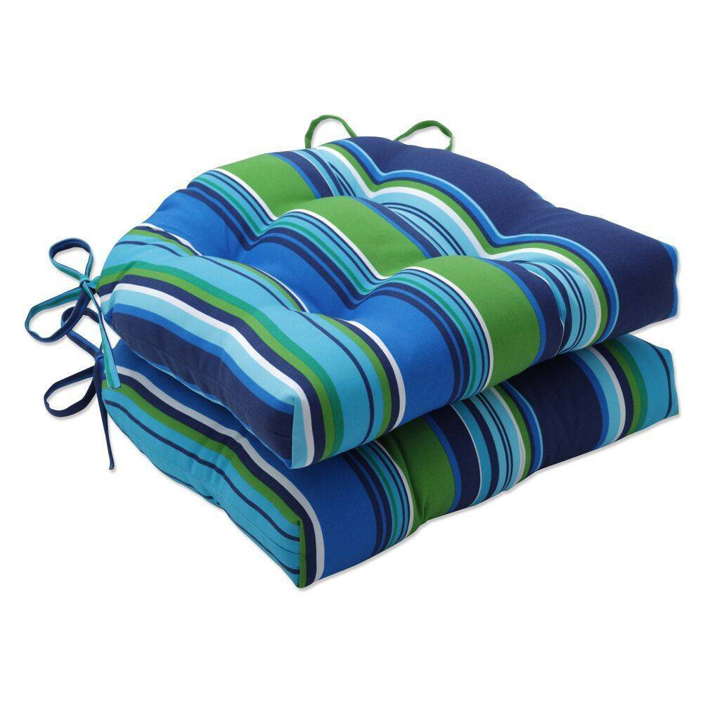 Cheap 2pk Outdoor/Indoor Large Chair Pad Set Sea Island Blue - Pillow Perfect