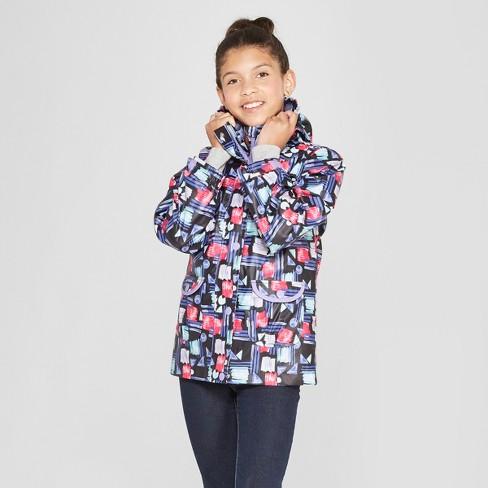 b0d753d002a Girls  3 In 1 Rain Jacket - Cat   Jack™ Purple   Target
