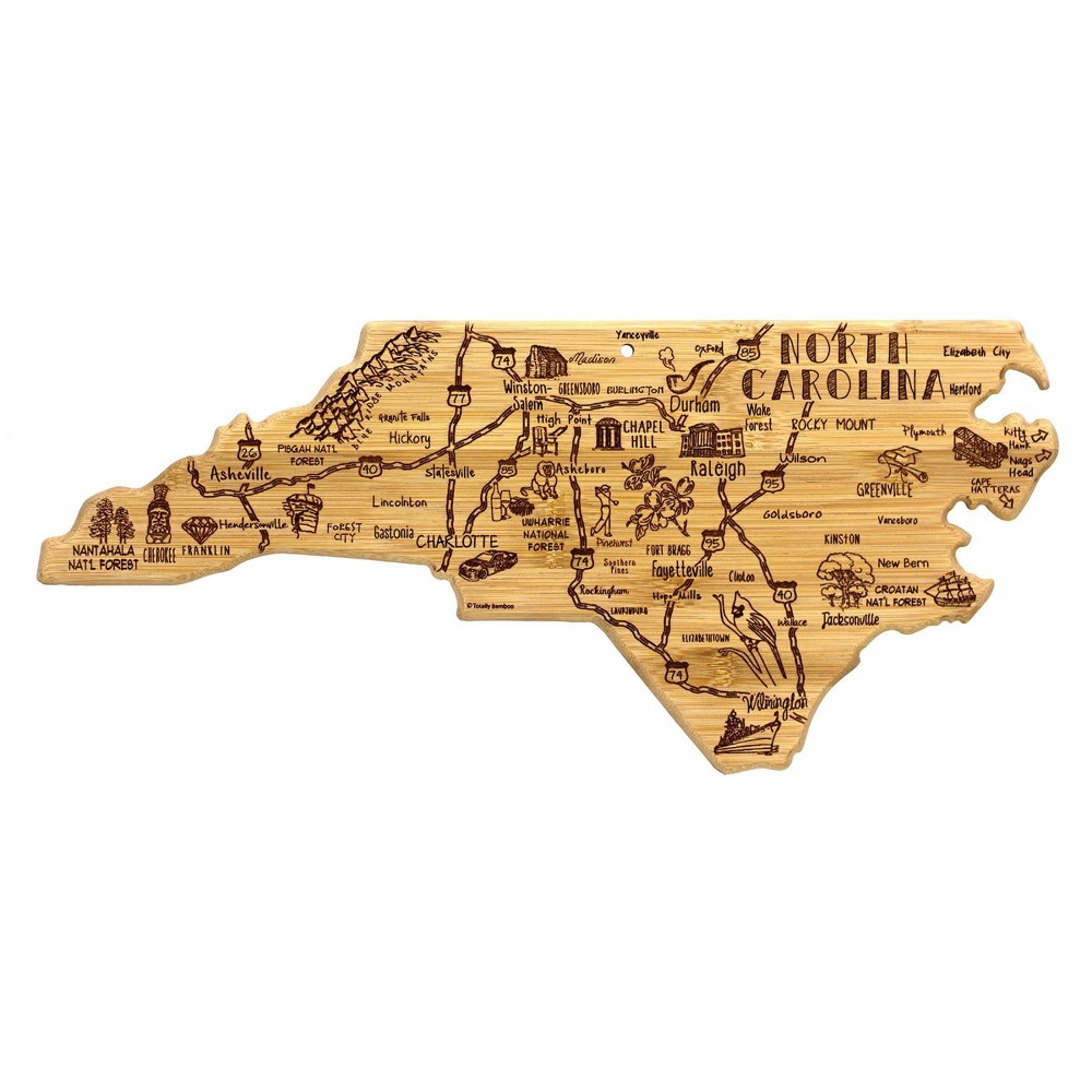 Promos Totally Bamboo Destination North Carolina Serving and Cutting Board