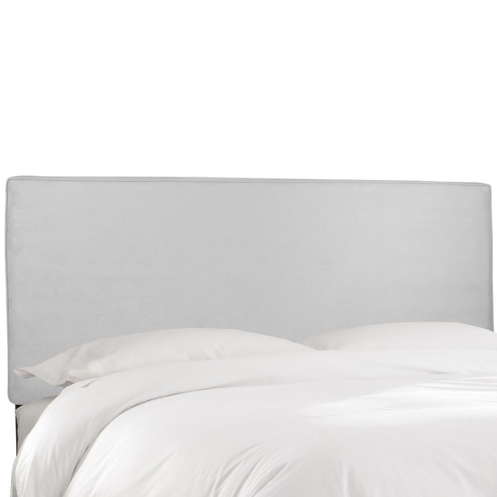 Twin Harper Box Seam Headboard White Velvet - Cloth & Co.