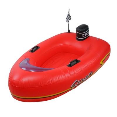 "Swimline 48"" Inflatable 1-Person Stinger Speedboat Swimming Pool Raft Float - Red/Black"
