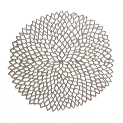 4pk Pressed Dahlia Placemats Gunmetal - Chilewich