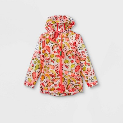 Girls' Fruit Print Rain Jacket - Cat & Jack™ Pink
