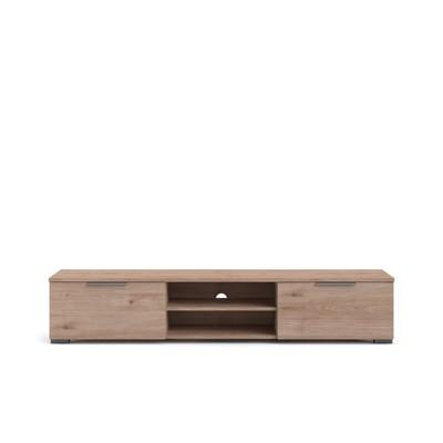 2 Drawer 2 Shelf TV Stand in Brown - Tvilum