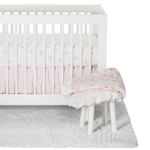crib bedding set duchess simply shabby chic nursery pink target