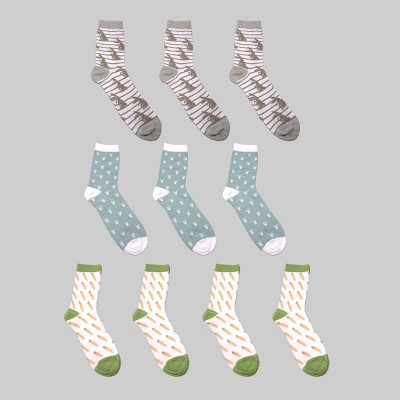 10pk Men's Novelty Socks Rabbits & Food - Bullseye's Playground™
