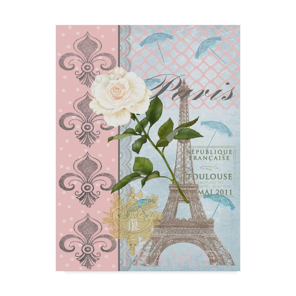 14 34 X 19 34 La Vie En Rose Ii By Jade Reynolds Trademark Fine Art