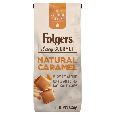Folgers Simply Gourmet Caramel Roast Whole Bean Medium Roast Coffee - 10oz